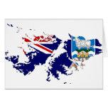 Falkland Islands (Malvinas) Flag Map FK Card
