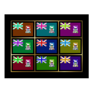 Falkland Islands Multihue Flags Postcard