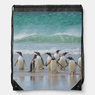 Falkland Islands. Saunders Island. Gentoo 5 Drawstring Backpack