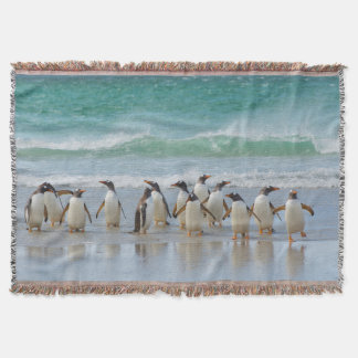 Falkland Islands. Saunders Island. Gentoo 5 Throw Blanket