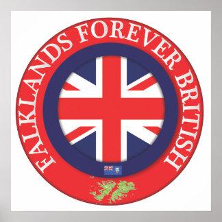 Falklands Forever British Poster