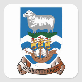 Falklands Islands Coat of Arms Square Sticker