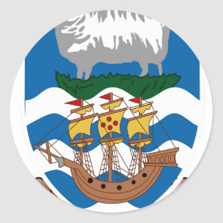 Falklands Islands Coat of Arms Classic Round Sticker