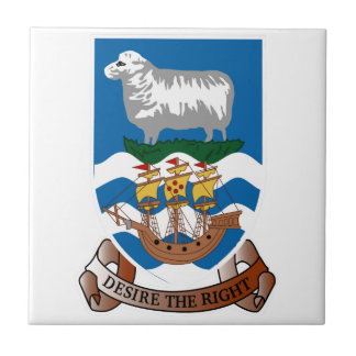 Falklands Islands Coat of Arms Small Square Tile