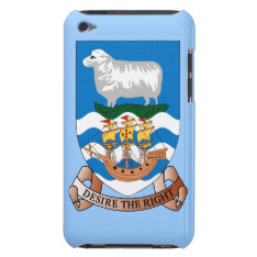 Falklands Sheep And Ship on Sea Flag iPod Touch Barely There iPod Case at Zazzle