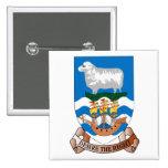 Falklands Sheep Ship Sea Flag Badge Pinback Button