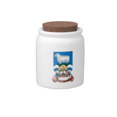 Falklands Sheep Ship Sea Flag Candy Jar at Zazzle