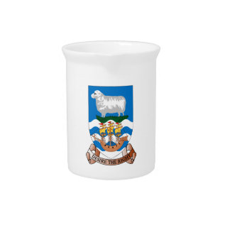 Falklands Sheep Ship Sea Flag Drinks Pitcher at Zazzle