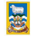 Falklands Sheep Ship Sea Flag Greeting Card