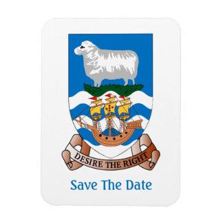 Falklands Sheep Ship Sea Flag Save The Date Magnet