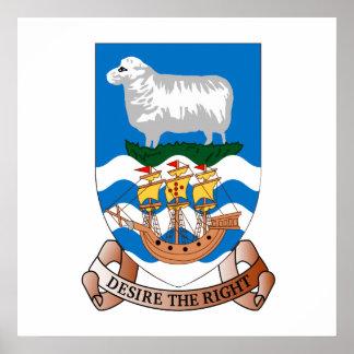 Falklands Sheep Ship Sea Flag Wall Poster