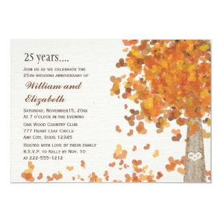 Fall 25th Wedding  Anniversary Photo Invitations