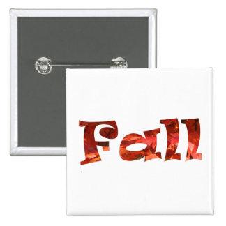 Fall 2 Inch Square Button