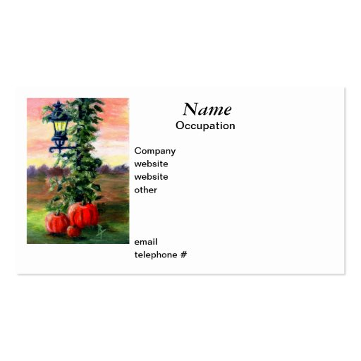 Fall aceo Business Cards