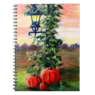 Fall aceo spiral notebook