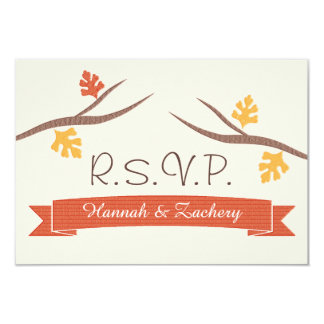 Fall Acorn Wedding Response RSVP Card