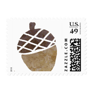 Fall Acorns and Leaves Wedding Stamp