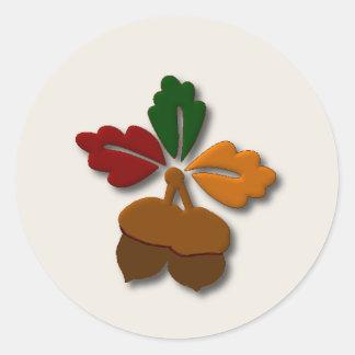 Fall Acorns Sticker