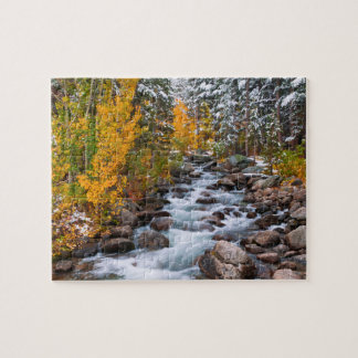 Fall along Bishop creek, California Jigsaw Puzzle