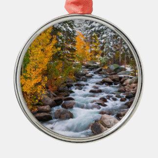 Fall along Bishop creek, California Metal Ornament