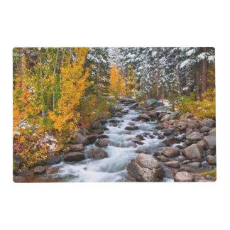 Fall along Bishop creek, California Placemat
