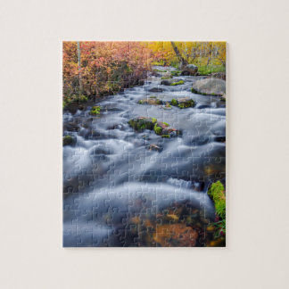 Fall along Lundy Creek, California Jigsaw Puzzle