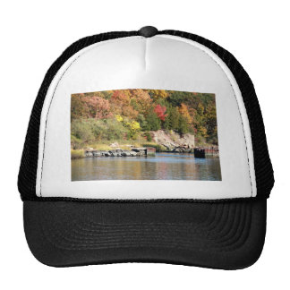 Fall Along the Farm River Mesh Hat