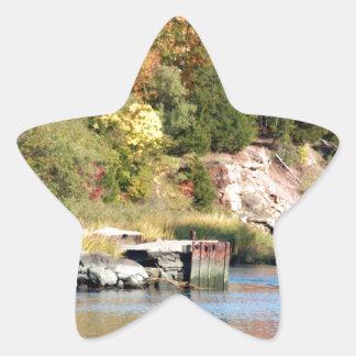 Fall Along the Farm River Star Sticker