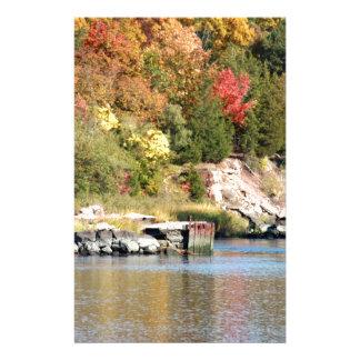 Fall Along the Farm River Stationery