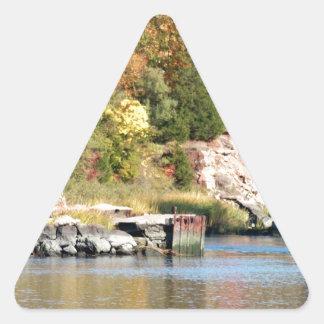 Fall Along the Farm River Triangle Sticker