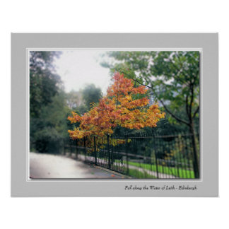 Fall along the Water of Leith - Edinburgh Print