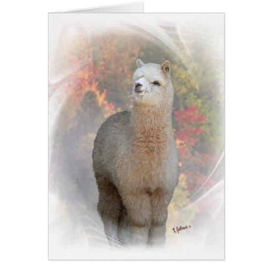 Fall Alpaca Card