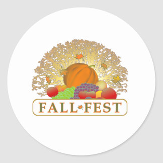 Fall and Autumn Festival Merchandise Stickers