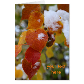 Fall and Winter 4 Customizable Greeting Card