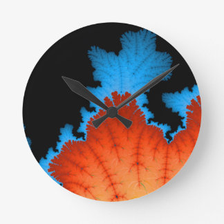 Fall And Winter Round Clock