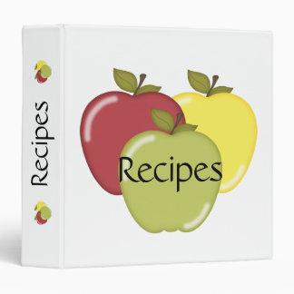 Fall Apples Vinyl Binders