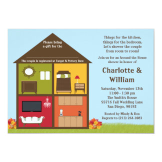Fall Around the House Shower Bridal Shower Card
