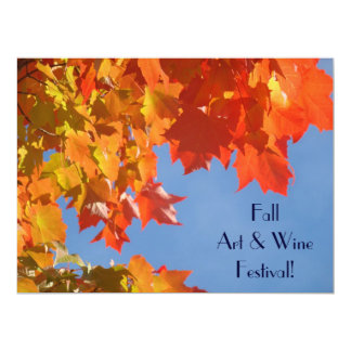 Fall Art & Wine Festival! event Invitation Cards