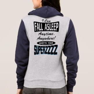 Fall Asleep Superpower (blk) Hoodie