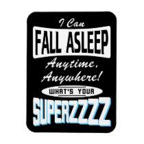 Fall Asleep Superpower (wht) Magnet
