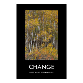 Fall Aspen Grove Change Inspiration Poster at Zazzle