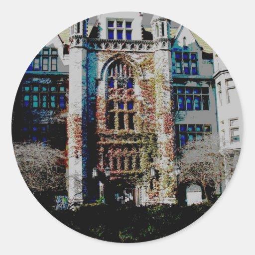 Fall at Cobb Hall Sticker