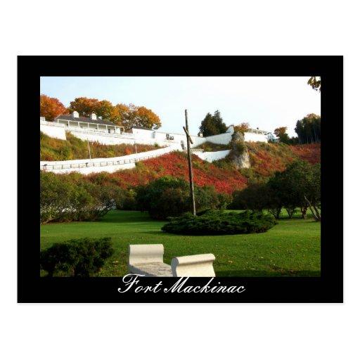 Fall at Fort Mackinac Postcard
