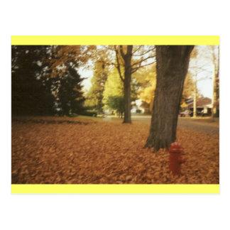 Fall at home postcard