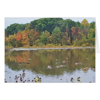 Fall at Lake Isaac Ohio Card