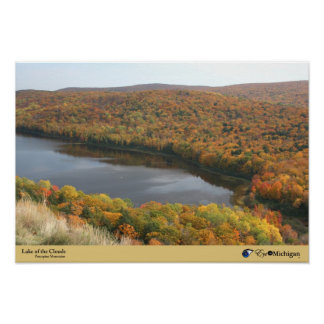 Fall at Lake of the Clouds - Porcupine Mountains,  Poster