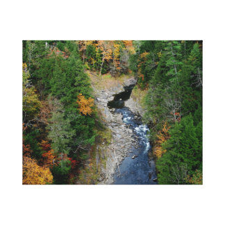 Fall At Quechee Gorge Vermont Stretched Canvas Prints