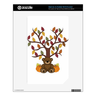 Fall Autumn Bear Design Electronics Products NOOK Color Decal