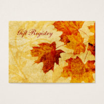 fall autumn brown leaves Gift registry  Cards