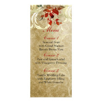 fall autumn brown leaves  wedding menu